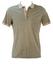 Beige & Green Striped Polo Shirt - S/M