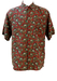 Vintage 90's Silk Short Sleeved Shirt with Mickey Mouse Paisley Pattern - L/XL