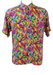 Vintage 90's Short Sleeved Shirt with Bright Multicoloured Abstract Swirl Pattern - M/L