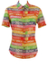 JC de Castelbajac Travel Themed Multicolured Striped Short Sleeved Shirt - M