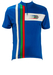 Italian Short Sleeved Blue Cycling Top with Red, Green & White Stripe Detail - M
