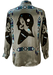 Vintage 90's Grey Shirt with Dream Catcher, Hawk & Face Silhouette Imagery - L/XL