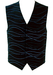 Carlo Pignatelli Navy Blue Waistcoat with Embroidered Interlocking Curves - M/L