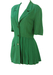 Green Dual Textured Short Sleeved Jacket with Side Pleat Detail - M