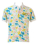 Olmes Carretti Best Company White Polo Shirt with Yellow, Pink & Blue Floral Pattern - L/XL