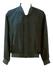 Dark Green 100% Silk Bomber Jacket - M/L