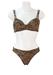 Leopard Print Bikini with Dual Strap & Gold Detail - S/M