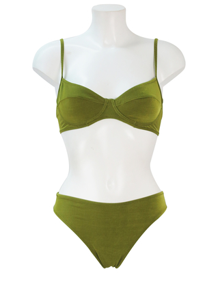 Green Shimmery 3 Piece Bikini - XS/S