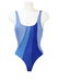 Colmar Swimsuit with Blue Striped Pattern - Unused with Original Label - S