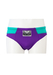 Purple & Turquoise Swim Briefs with Sport Champ Label - S/M