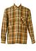 Flannel Shirt in Orange, Brown & Green Check - L/XL