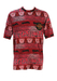 Red Kappa T-Shirt with Pink & black Tribal Pattern - L/XL