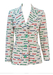 Vintage 70's White Fitted Blazer with Multicoloured French Days of the Week Wording - M