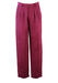 """Maroon Pleat Front Tailored Trousers with Turn-ups - 32"""""""
