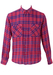 Pink and Blue Checked Flannel Shirt - M/L