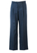 Blue Grey Pleat Front Tailored Trousers with Fine Light Grey Weave - 34""