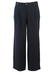Navy Blue Pleat Front Tailored Wool Trousers with Golfing Motif - 33""