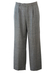 Grey Pleat Front Tailored Wool Trousers with Black, Blue & White Fine Check Pattern - 35""