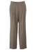 Light Brown & Grey Mottled Pure Wool Tailored Trousers with Pleat Front - 33""