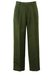Olive Green, Pleat Front Tailored Trousers - 31""