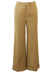 Vintage 70's Flared Camel Trousers with Turn Ups - S