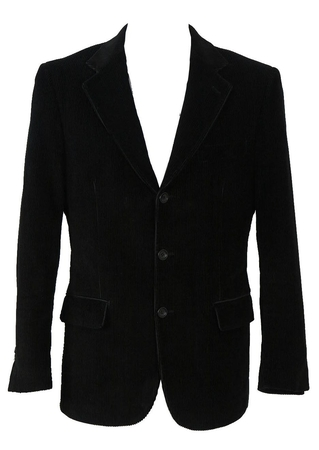 Black Corduroy Jacket - M/L