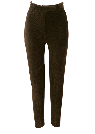 Dark Brown Jumbo Cord Jodhpur Legging Trousers - XS/S