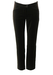 Max Mara Slim Leg, Dark Brown Velvet Tapered Trousers - S/M