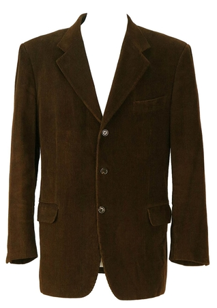 Dark Brown Corduroy Jacket - XL/XXL