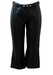 Dolce & Gabbana Black Leather Cropped Trousers - S