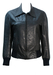 Vintage 70's Black Leather Fitted Bomber Jacket - S/M