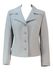 Vintage 70's Grey Fitted Wool Jacket with Stitch Detail & Decorative Buttons - M