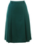 Vintage 70's Bottle Green Flared Midi Skirt with Side Pleat Detail - S/M