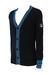 Fila Navy Blue Varsity Style Cardigan with Light Blue & White Stripe Detail - XS/S