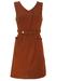 Vintage 60's Sleeveless Chestnut Brown Mini Shift Dress with Belt & Pockets - S/M