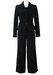 Max Mara Black & Purple Pinstripe Two Piece Trouser Suit - M