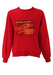 Red Sweatshirt with Cartoon Yellow Lear Jet Image - M/L
