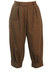 Mottled Brown Wool Pedal Pushers with Chestnut Brown Button Detail - S/M