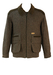 Green & Brown Tweed Bomber / Hunting Jacket with Khaki Cord & 3 Way Pocket Detail - L/XL