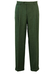 Mottled Green and Grey Pure Wool Pleat Front Tailored Trousers - 34""
