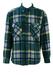 Fila Fleece Shirt with Green, Blue & Yellow Check Pattern - L/XL