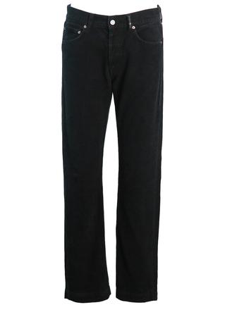 "Stone Island Black Corduroy Trousers - 34"""