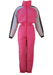 Ellesse Pink Ski Suit with Soft Grey & Dark Grey Sleeve Detail - S