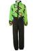 McRoss Green & Black Ski Suit with Neon Pink & Black Graphic Design - M