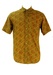 Olive Green Short Sleeved Shirt with Ochre, Red & Pink Ditsy Floral Print - M