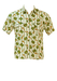 Short Sleeved Green & White Striped Shirt with African Safari Theme - S/M