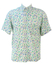 White Short Sleeved Shirt with Green, Lilac & Yellow Ditsy Floral Print - M