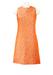 Vintage 60's Sleeveless Mini Shift Dress with Orange, Salmon & Metallic Silver Textured Pattern - S