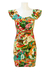 Kenzo Multicoloured Bodycon Mini Dress with 50's Style Funfair Themed Imagery - S/M