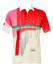 Australian L'Alpina Polo Shirt with Red, Pink, Blue & White Graphic Pattern - L